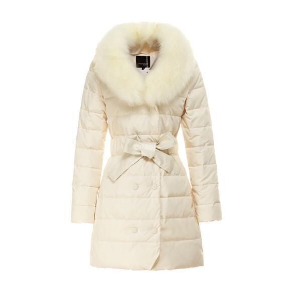 New 2015 winter women thicken down coat warm long fur coat slim down cotton padded women parka coat women down jacket W658(China (Mainland))