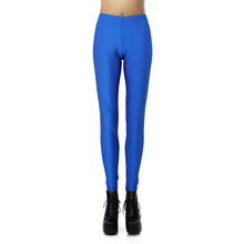 2015 New Sexy Royal Blue Women Sportswear Running Pants Tall Waist Exercise Trousers Transparent Leggings