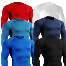 p27 2014  new S-XXL  PRO boy tight long-sleeved men's sports fitness training T-shirt perspiration wicking shirt free shipping