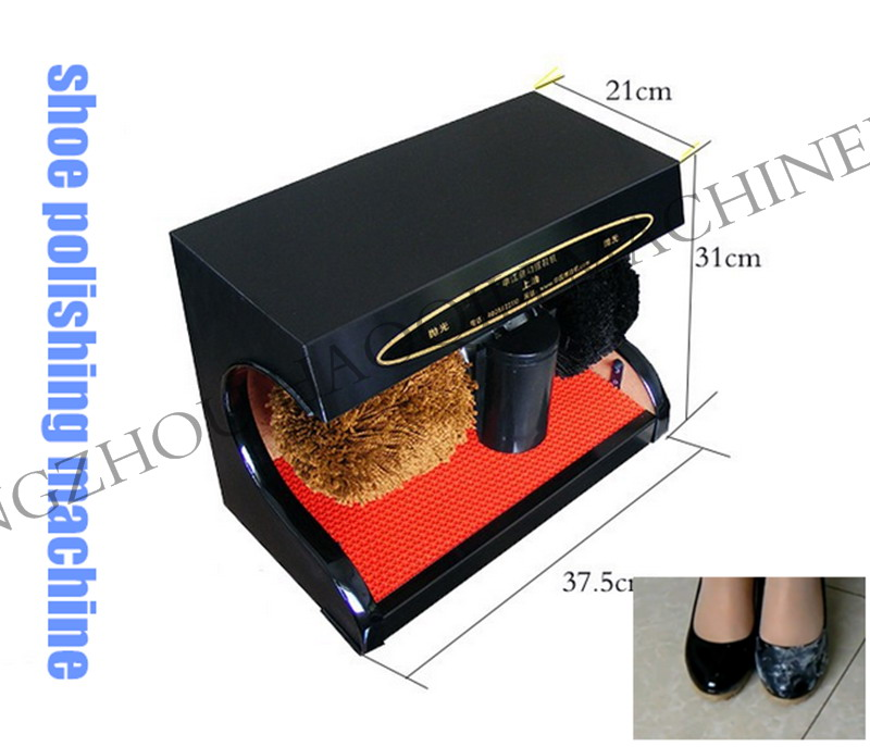 desktop type electric home office using leather shoe polisher | portable automatic shoe cleaning and polishing machine(China (Mainland))