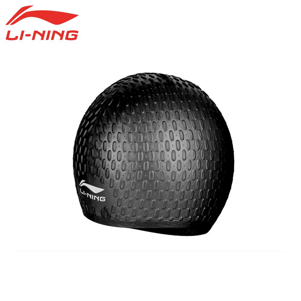 LI-NING Waterproof Particle Silicone Swimming Cap for Men Female Long Hair Swim Pool Hat for Women Girls Ladies Adults LSJK818(China (Mainland))