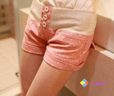 CasSpot Pockets Dot Leisure Candy Color Sweet Clothing Cute Cotton New Fashion 2015 Women Summer Shorts - The E-Ybar Co. Ltd store