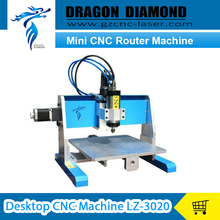 3 Axis CNC Water Cooling Spindle Motor ball screw Mini CNC Router Machine Desktop CNC Machine LZ-3020(China (Mainland))
