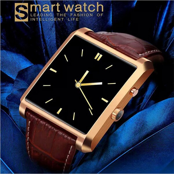 2015 LF06 DM08 Bluetooth Smart Watch Men Leather IPS Smartwatch Wristwatch ios Android Phone PK M26 U8 DZ09 GV08 GV18