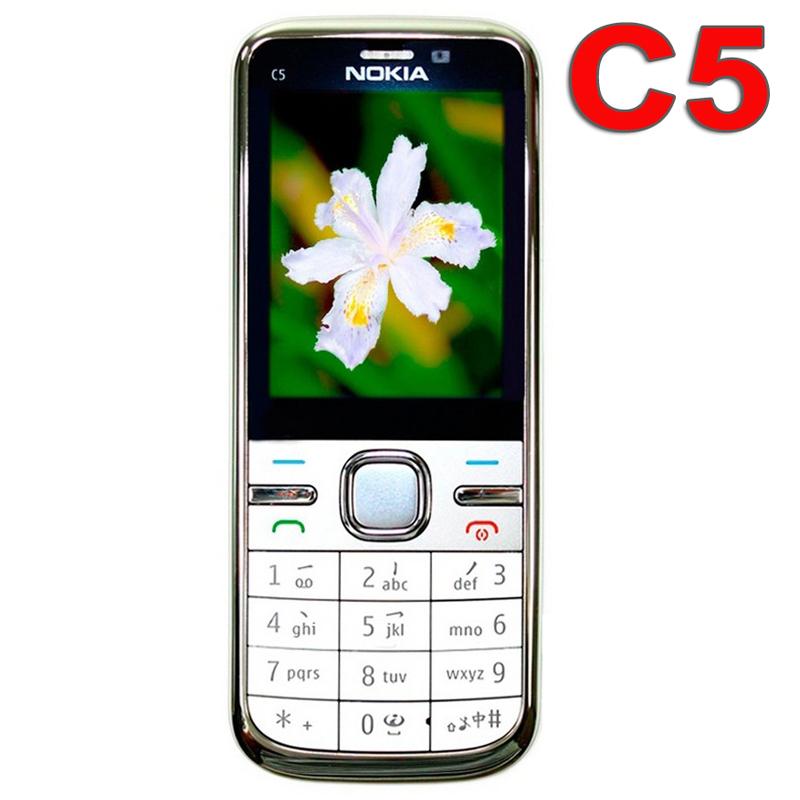 Original Nokia C5 Mobile Phone 3G Unlocked Refurbished Classic Phone c5 00 English Russian Arabic Keyboard(China (Mainland))