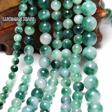 Wholesale Green Stone Round Shape Natural Stone Beads For Jewelry Making DIY Bracelet  4mm 6mm 8mm 10mm 12mm Strand 16''(China (Mainland))