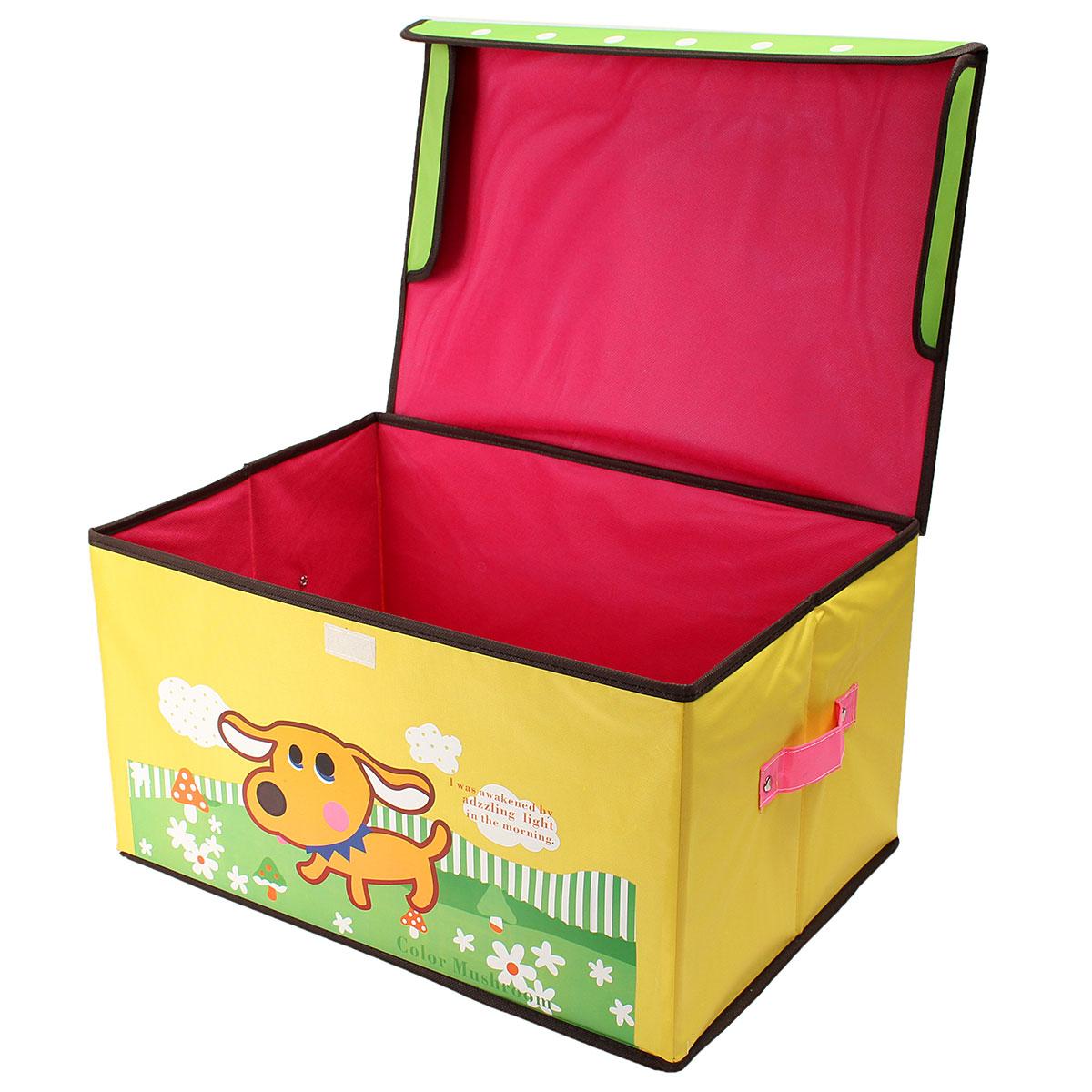 Фотография Storage Toy Box Kids Childrens Large Case Girls Boys Books Chest Clothes Cardboard Framework Gift Housekeeping Organizer