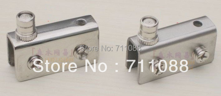 Brushed stainless steel doors glass hinge glass clamp glass cabinet clip 5-8mm(China (Mainland))