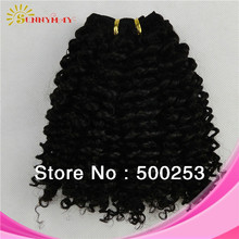 wholesale AAAAA grade 100% Brazilian virgin human hair extensions jerry curly hair estensions for black women(China (Mainland))