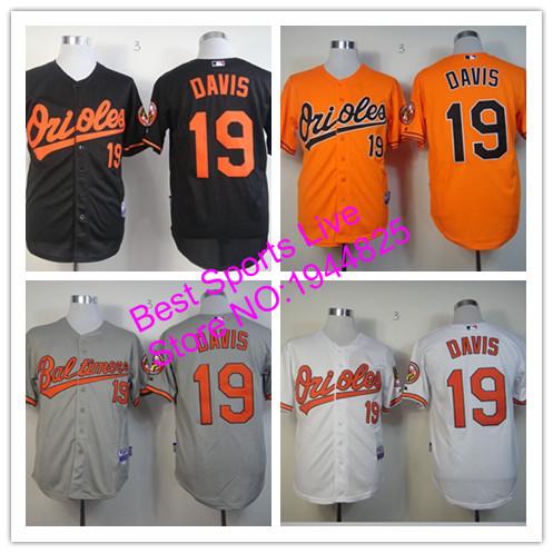 Chris Davis Jerseys Baltimore Orioles Chris Davis 19 Stitched Cheap Jerseys White Orange Black Gray Baseball jersey(China (Mainland))
