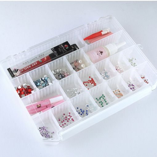 1Pcs Plastic Container Organizer Beads Jewellery Craft Small Storage Box Nail Arts Case with 28 Compartments Cells(China (Mainland))