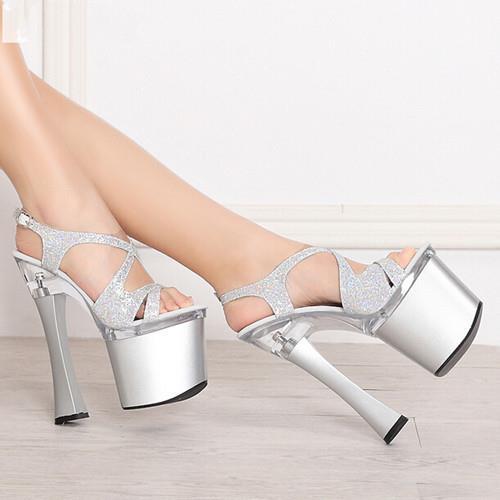 font b 2016 b font new fashion sandals 19cm thick with super Women high heels