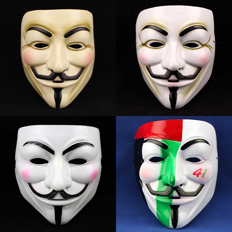 New Cosplay Halloween Party Guy Fawkes V FOR Vendetta Anonymous Adult Mask(China (Mainland))