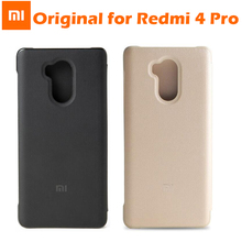 Buy Original Xiaomi Redmi 4 Pro Flip Case cover Leather PU + PC xiaomi redmi 4 cellphone protector for $7.08 in AliExpress store