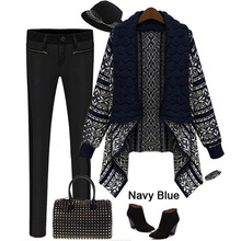 Women Autumn Ladies Knitted Cardigan Casual Outwear Sweater Jacket Coat 3Colors(China (Mainland))