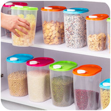Kitchen compact environmentally sealed cans storage box, whole grains crisper food storage tank 1.25L(China (Mainland))
