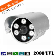 """Newest 1/3"""" SONY CCD CCTV Camera HD 2000TVL Waterproof  IR distance 80 Meters Outdoor Security Camera  with 6 Pcs Array Leds(China (Mainland))"""