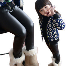 kid skinny black leather pants girl spring legging children pants kid legging girl pants child trousers