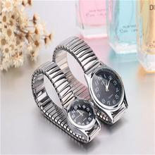 Hot!!!Old People Watch Big Number Clear Table Stainless Bracelet Cheap Quality Wristwatch Lover Watches Women Watches Watch Men(China (Mainland))