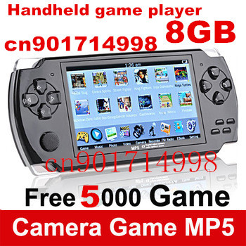 FREE 5000 games .8GB 4.3 Inch PMP Handheld Game Player MP3 MP4 MP5 Player Video FM Camera Portable Game Console(China (Mainland))
