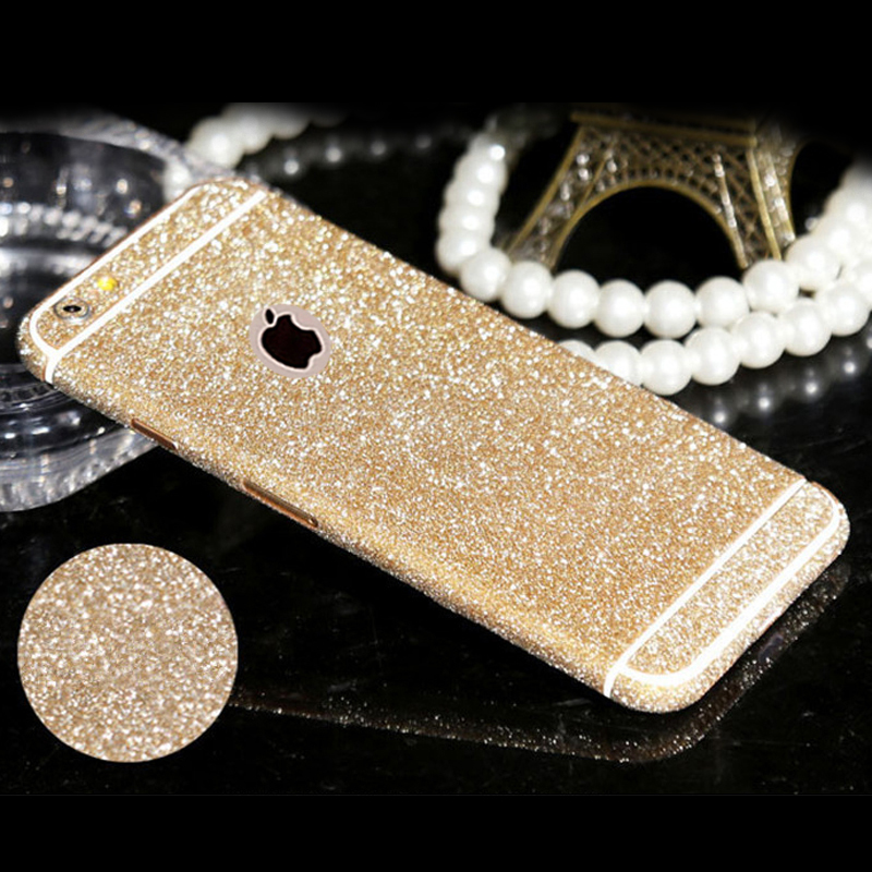 New Full Body Glitter for iPhone 5 5S SE Shiny Phone Sticker Case Gold Sparkling Diamond