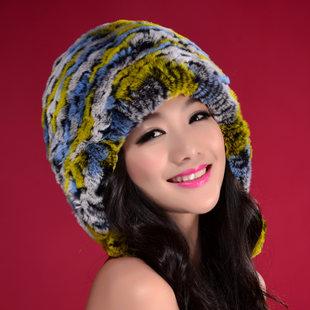 2013 women's rex rabbit hair fur hat female dome rabbit fur ball fur hat toe cap covering cap(China (Mainland))
