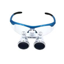 3.5x420 мм Стоматологическая Лупы Хирургическое Бинокулярные Лупы Лупа Очки(China (Mainland))