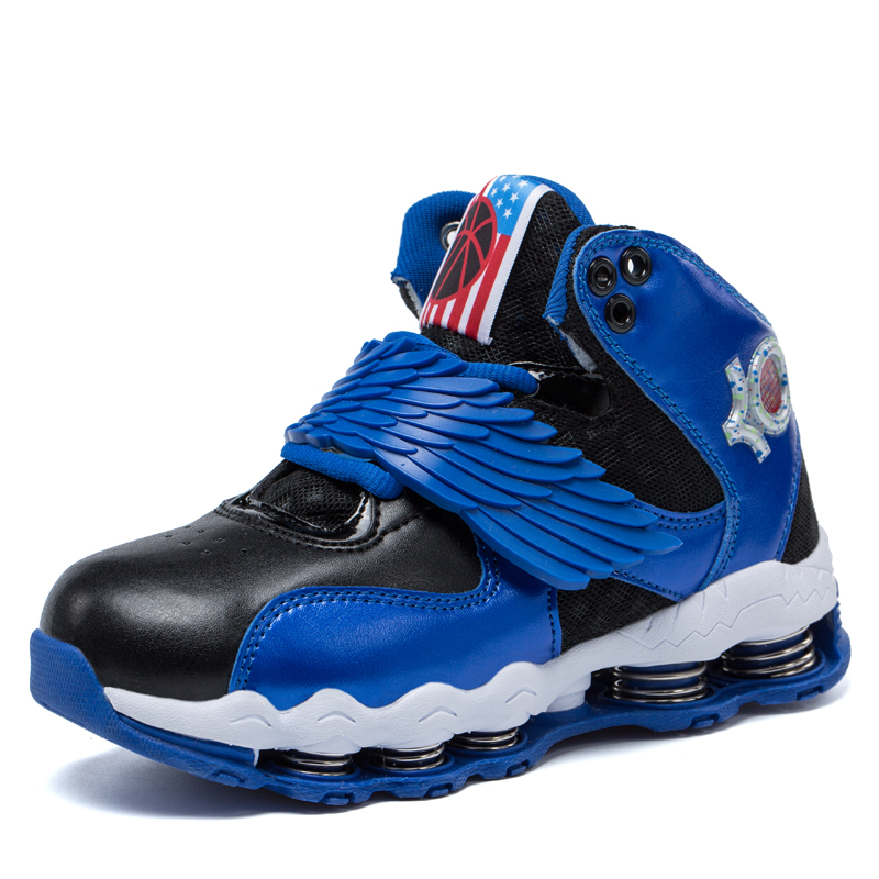 Boys Basketball Shoes Kids Sneakers Breathable Shockproof Chaussure Sport Enfant Boys Girls Running Shoes Shop Online(China (Mainland))