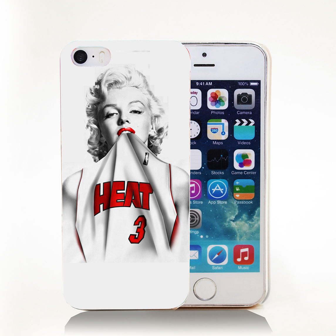 Marilyn Monroe Miami Heat Dwyane Wade 3 Jersey Hard Transparent Cover Case for iPhone 4 4s 5 5s 5c 6 6s Protect Phone Cases(China (Mainland))