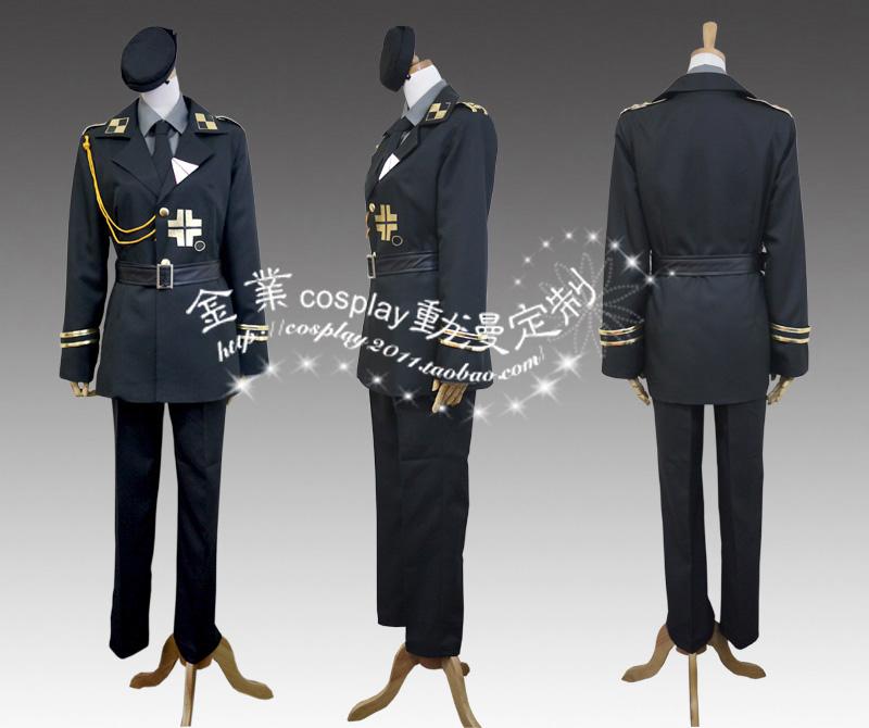 Axis Powers Hetalia APH Prussia COSPLAY Army Costume - Custom Made