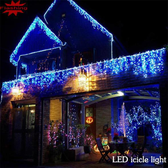 224LED 5M curtain string lights 220V Christmas Garden lamps New year light Icicle Lights Xmas Wedding Party(China (Mainland))