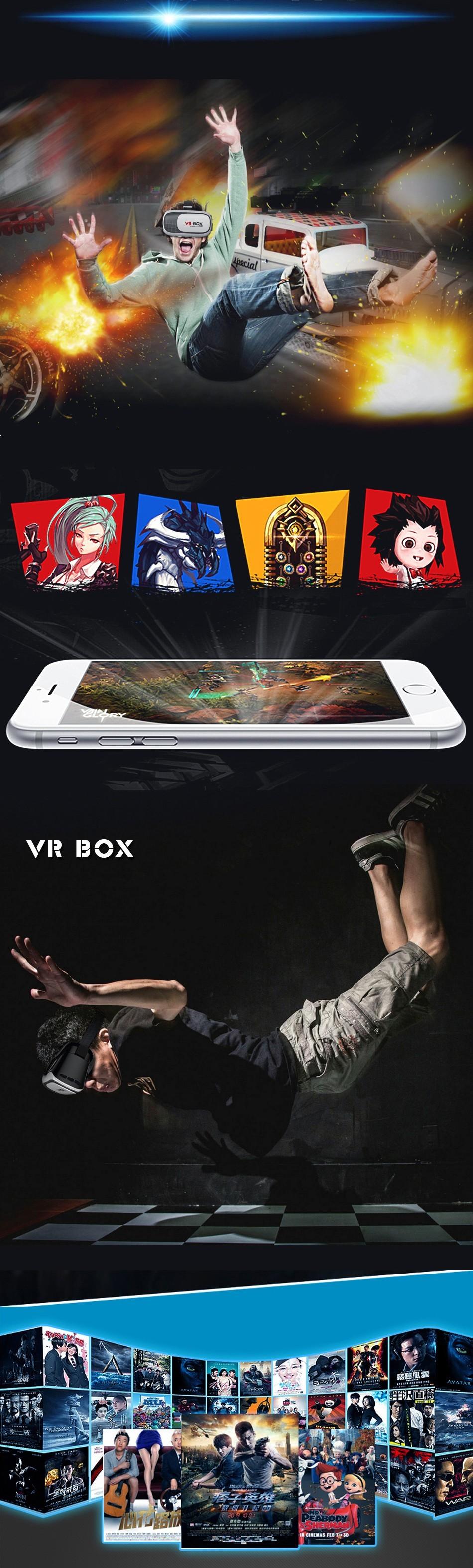 ถูก G oogleกระดาษแข็งVRกล่อง2.0รุ่นแว่นตาเสมือนจริง+เมาส์ไร้สายบลูทูธ/การควบคุมระยะไกล/Gamepadกับแพคเกจ