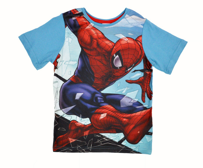 Kids clothes Cartoon cotton T shirt Spiderman hulk captain