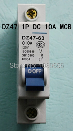 DZ47 1P 10A DC 125V Circuit breaker MCB 1 Poles C45(China (Mainland))
