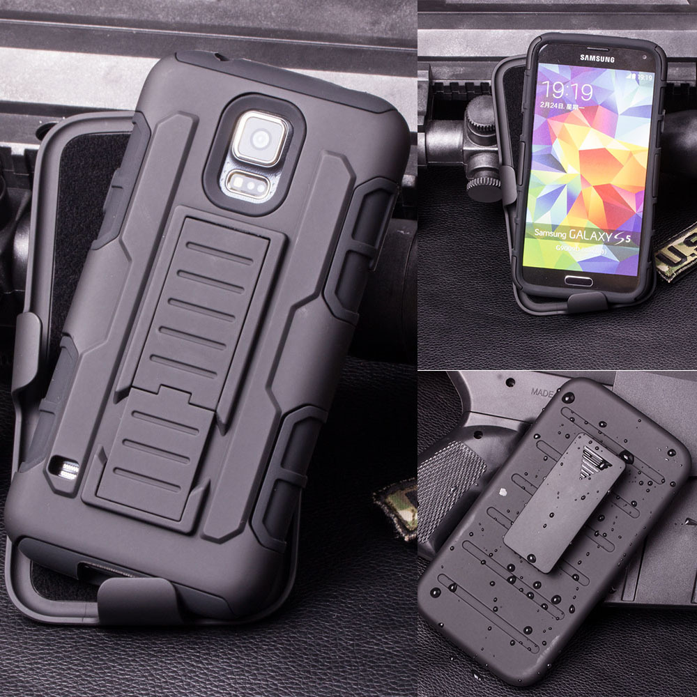 Future Armor Impact Holster Hard Case for Samsung Galaxy S5 I9600 / S5 Mini G800 / S5 Active G870 Phone Cover + Flim + Stylus(China (Mainland))