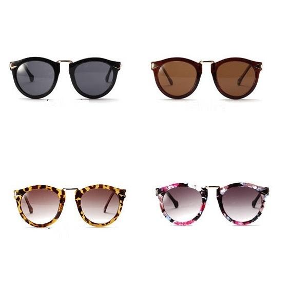 Aliexpress.com Comprar 2015 lentes de sol de mujer moda de Metal flecha Retro impreso espejo redondo de sol del deporte al aire Sunglass MC 199 de gafas de