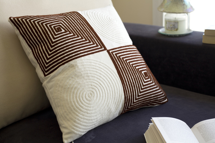 Ikea Latest design cotton embroidery cushion cover for