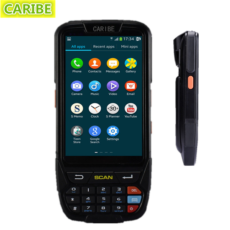Caribe PL-40LAb074 Waterproof 4 inch touch screen handheld logistic police pda integrated with 2d barcode scanner(China (Mainland))