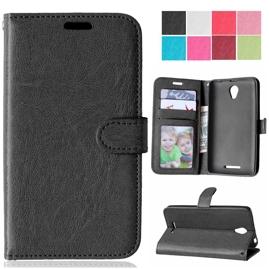 Luxury Retro Flip Case For Lenovo A5000 PU Leather Soft Silicon Wallet Stand Cover For Lenovo A 5000 Cellphone With Card Slot(China (Mainland))
