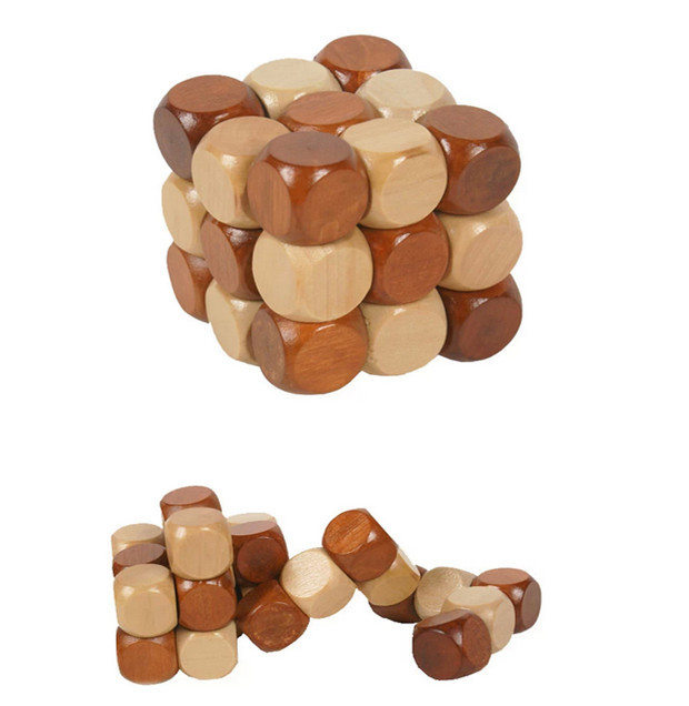 Baby Toys China Dragon Ancestral Locks Traditional Wooden Brain Teaser Puzzle Educational Toys Ming Luban Lock Magic Cube Gift(China (Mainland))