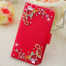 I9300 Rhinestone Case Pink Blue White diamond High quality leather Mobile phone bags Case for Samsung I9300 galaxy S3(China (Mainland))