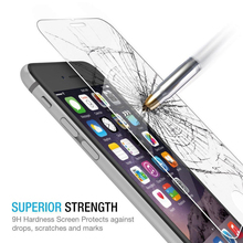 100pcs Full cover whole transparent Curved Edge 0.26mm 9H Tempered Glass Screen Protector for iPhone 6 6s 4.7″ Protective Film