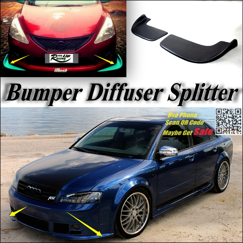 Car Splitter Diffuser Bumper Canard Lip For Audi A4 For RS4 S4 Tuning Body Kit / Car Front Deflector Flap Fin Chin Reduce Body<br><br>Aliexpress