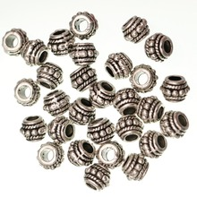 Metal Antique Gold Silver Tibetan Spacer Beads Hole for Jewelry Making