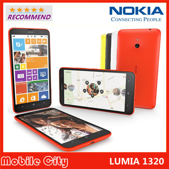 Refurbished Unlocked Original Nokia Lumia 1320 cell phone network with 5MP camera Windows 3G Wifi GPS Bluetooth Free Shipping(China (Mainland))