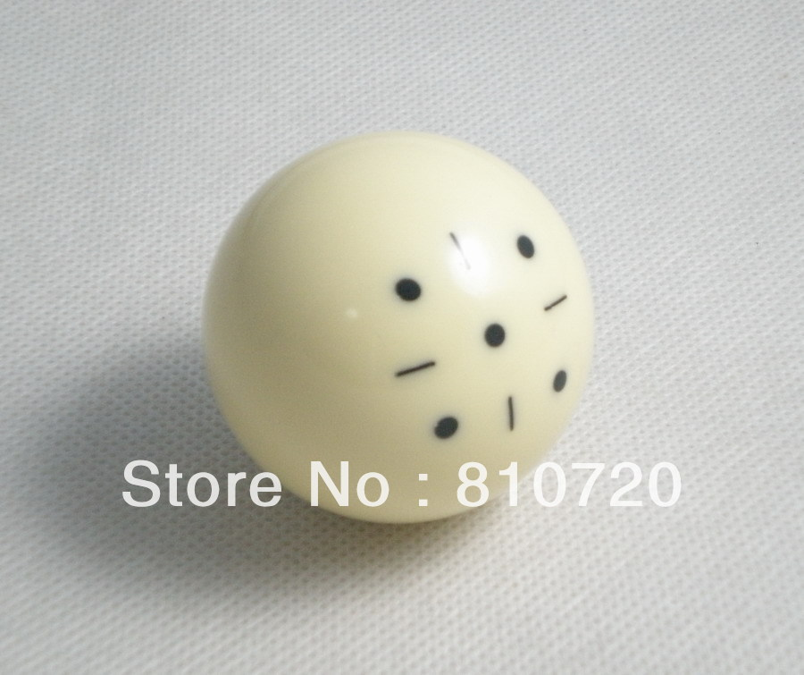 """Free shipping 1pcs Practice Training black point Pool snooker Billiard table Cue ball 2-1/16"""" 52.5mm(China (Mainland))"""