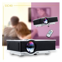 UNIC UC40 800 lumens LED Mini Projector Home Cinema Portable Beamer Proyector  HDMI AV SD 1080P Proyector Full HD 3D Multimedia(China (Mainland))