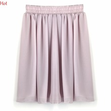Buy Summer Style Women's Chiffon Skirts Short Pleated Mini Skirt Casual Elastic Waist Skirt Colors Pink Black Yellow Skirt SV000286 for $4.99 in AliExpress store