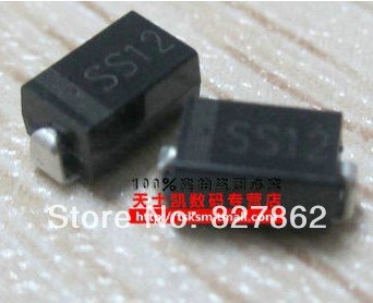 Free shopping 2000 PCS SS12 DO-214AC 1N5817 SMD DIODE 1A SURFACE MOUNT SCHOTTKY(China (Mainland))