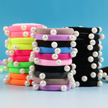 Buy 10 PCS/lot Candy Fluorescence Colored Hair Holders High Pearl Rubber Bands Hair Elastics Accessories Girl Women Tie Gum for $1.42 in AliExpress store